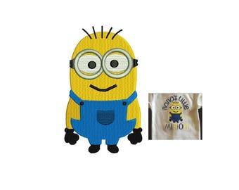Minion Embroidery Design - 3 design sizes Minion Embroidery - Fill Stitch Machine embroidery - INSTANT DOWNLOAD