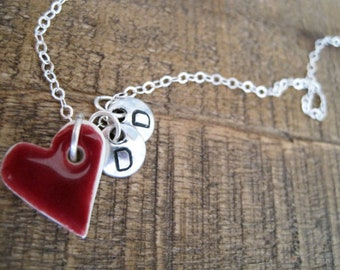Dear to My Heart Necklace- Porcelain