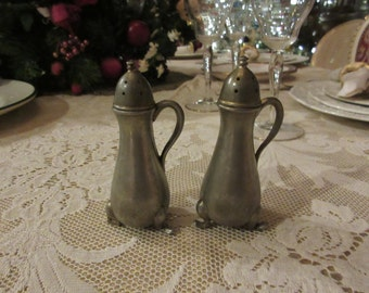 PEWTER SALT and PEPPER Shaker Set