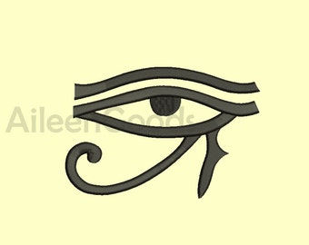 Egyptian Eye  Embroidery design 8 Size INSTANT download machine embroidery
