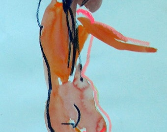 Nude painting of One minute pose 94.1  Original painting by Gretchen Kelly