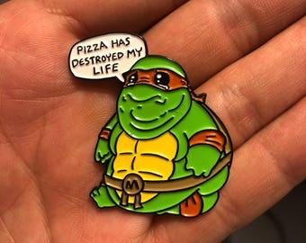 Poor Mikey soft enamel pin