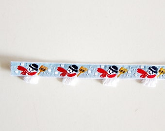 Snowman Sewing Trim - Christmas Jacquard Ribbon - For Sewing / Embellishing / Packaging