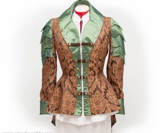 Emerald & Brass Mother Of Dragons Military Jacket