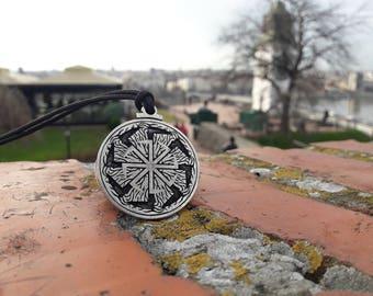 Kolovrat Sun wheel Svarog God symbol Slavic Mythology necklace and keychain,Legend Of Kolovrat Furious necklace,Viking amulet jewelry