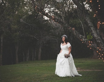 Inspired by Jackie Kennedy Wedding Dress - Jackie Blue