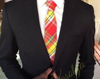 Red Madras tie
