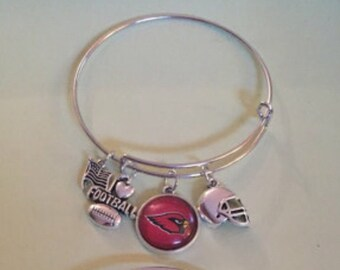 AZ Cardinals bangle style bracelets  two to choose from.. Other teams can be ordered.