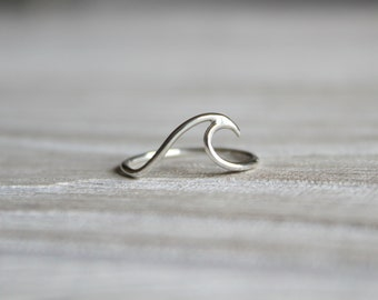 Wave Ring//Sterling Silver//Handcrafted