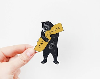 Vinyl Sticker - I love California - California Bear - Laptop, Water bottle, Car Sticker