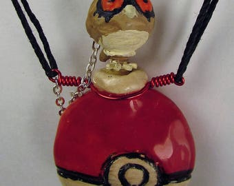 Pokemon Hoot Hoot Oil Diffuser Necklace  Hand Sculpted OoAK  (A)