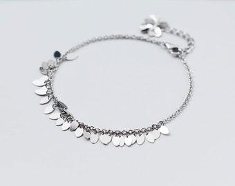 Silver Leaves Bracelet