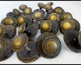 Vintage Drawer Cabinet Knobs With Backplates