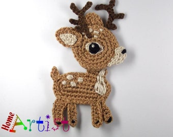 Crochet Applique Reindeer