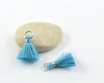 Small PomPoms 2 cm set of 2 blue P74 - FM