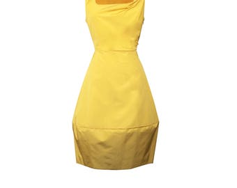 Style  Mia/YELOW  Summer Dress / Party & Day Wear / Made In Britain