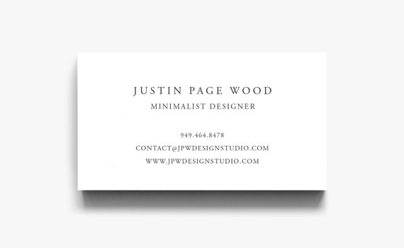 business card template elegant calling card simple business