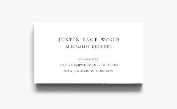 Business card template elegant calling card simple business colourmoves