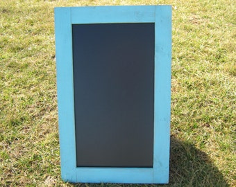 Rustic ocean blue chalkboard distressed extra large light blue chalk board message center blackboard