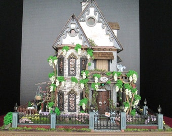 Made-to-order Furnished Haunted Dollhouse Property - Half Inch Scale