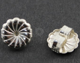 Sterling Silver Medium Earrings Back, 1 Piece, Sold INDIVIDUALLY, Just buy as many you need, (SS/726)
