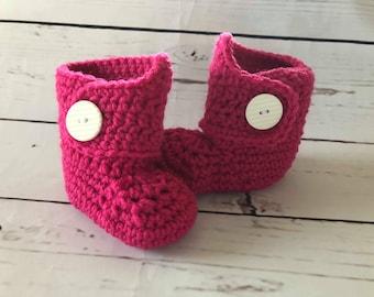 Newborn Crochet Booties, Baby Girl Booties, Baby Shower Gift, Newborn Coming Home Booties, Newborn Photo Prop, Baby Booties