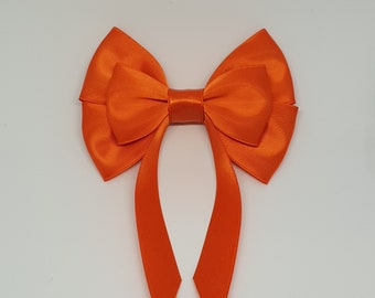 Orange Swallow Tail Hair Bow