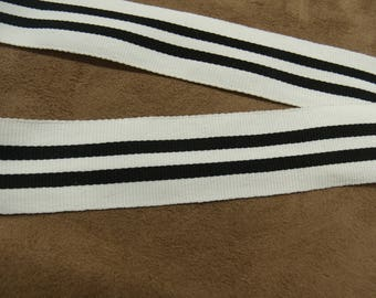 MILITARY Ribbon - 3 cm - black & white
