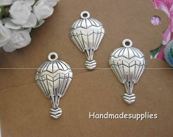 Set of 6 aged look (BIFBE) silver metal ball charms