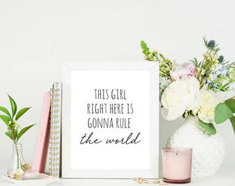 Feminist Quote Print | Wall Art for Women