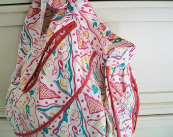 Vintage Storage Bag, Clothespin Bag, Storage, laundry supplies, made from a vintage apron