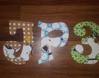 BFF Snoopy Baby Bedding Inspired Hand Painted Letters, Custom Wood Letters, Custom Name Letters, Painted Letters, Snoopy Letters, BFF Snoopy