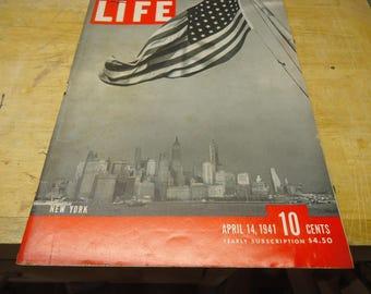 Life Magazine April 14, 1941 New York
