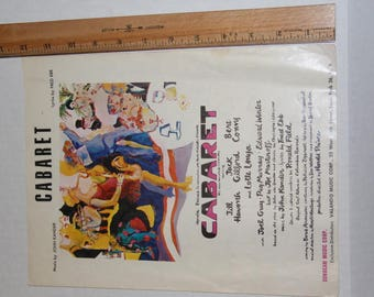 Vintage Sheet Music, Cabaret, Piano vocal from 1966