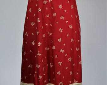 Vintage 1970's Peasant style Maxi Dress.