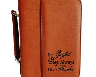 Leather Bible Cover - Case - Religious Gift - Christian Gift for Brother - Father - Mom - Nephew - Aunt - Uncle,  BCL052
