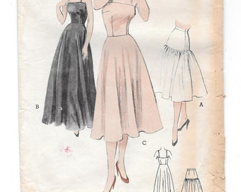 1940s SLIP ~ Vintage Sewing Pattern ~ Full Slip ~ Bouffant Petticoat Half Slip ~ 40s Lingerie ~ Butterick 5933 Bust 34 ~ Formal Floor Length