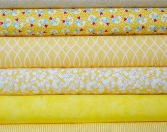 Yellow fat quarter bundle