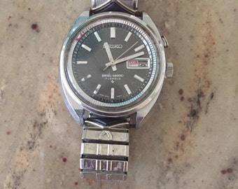 Seiko vintage BELL-MATIC alarm mens automatic watch 1969