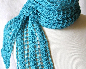 Knit Scarf Pattern - ZigZag Lace Scarf plus 3 Tutorials - Instant Download
