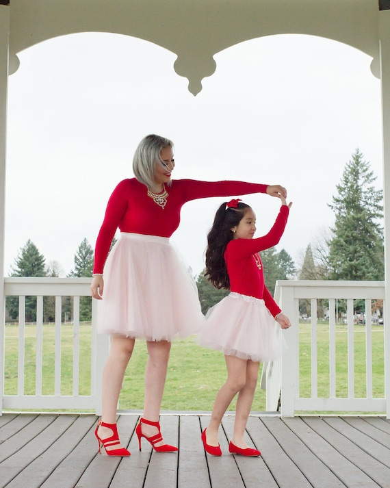 Mommy and Me Tulle Skirt Set