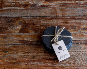 Welsh Slate coaster set Round