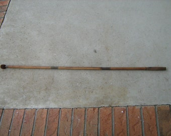 very old wood 3 piece shotgun cleaning rod