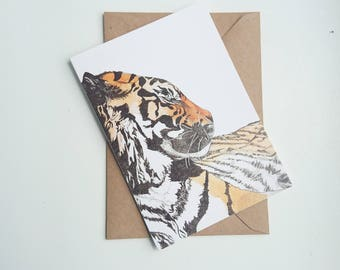 Tiger || A6 Greetings Card