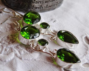 Kit earrings peridot - Sterling Silver 925 - holidays gift idea