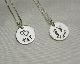 Monogram Necklace Sterling Silver Initial Necklace Personalized Name Necklace Mom Necklace Personalized Jewelry Gift for Mothers Necklace