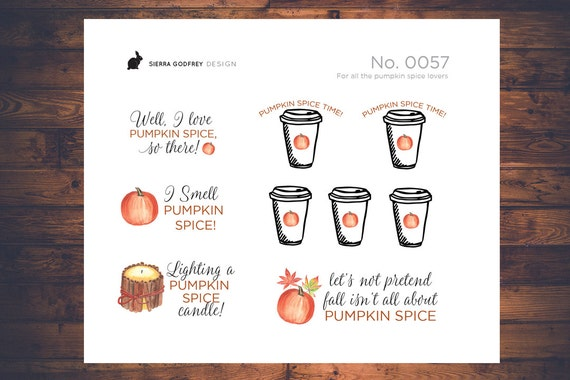 Pumpkin spice love hate stickers 0057 pumpkin stickers fall stickers autumn stickers happy planner day designer erin condren