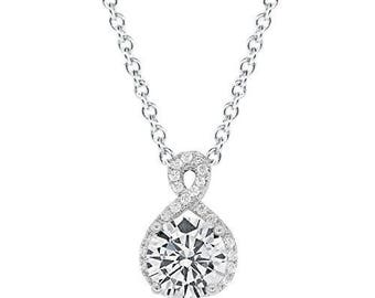 "Cate & Chloe Alessandra ""Vision"" 18k White Gold Plated Pendant"