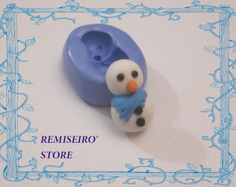 Snowman snow 25 mm silicone craft mold