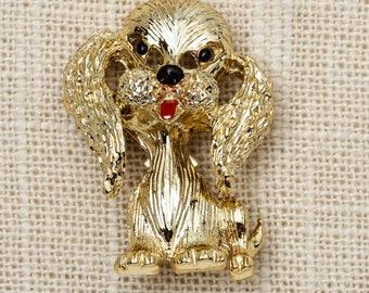 Gerry's Gold Dog Brooch Vintage Animal Broach Vtg Pin 7P